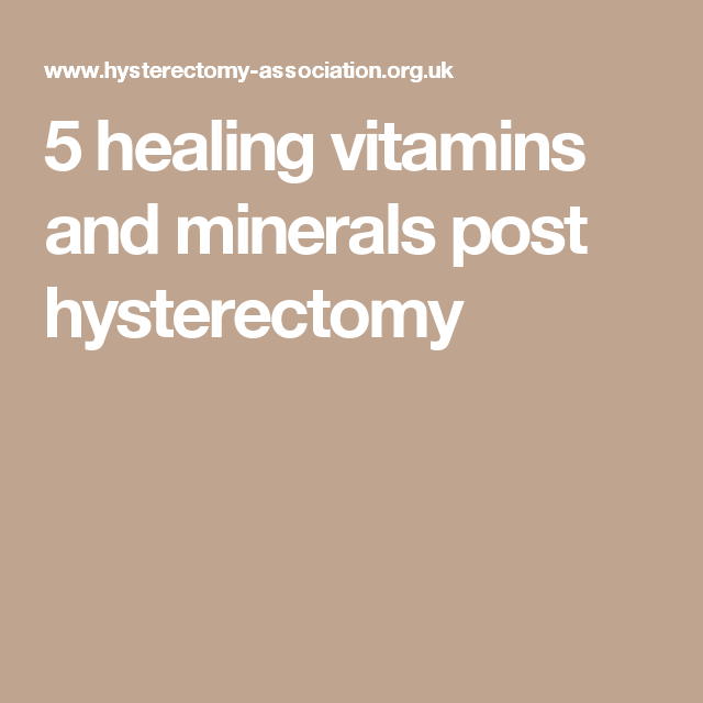 Vitamin Supplements After Hysterectomy