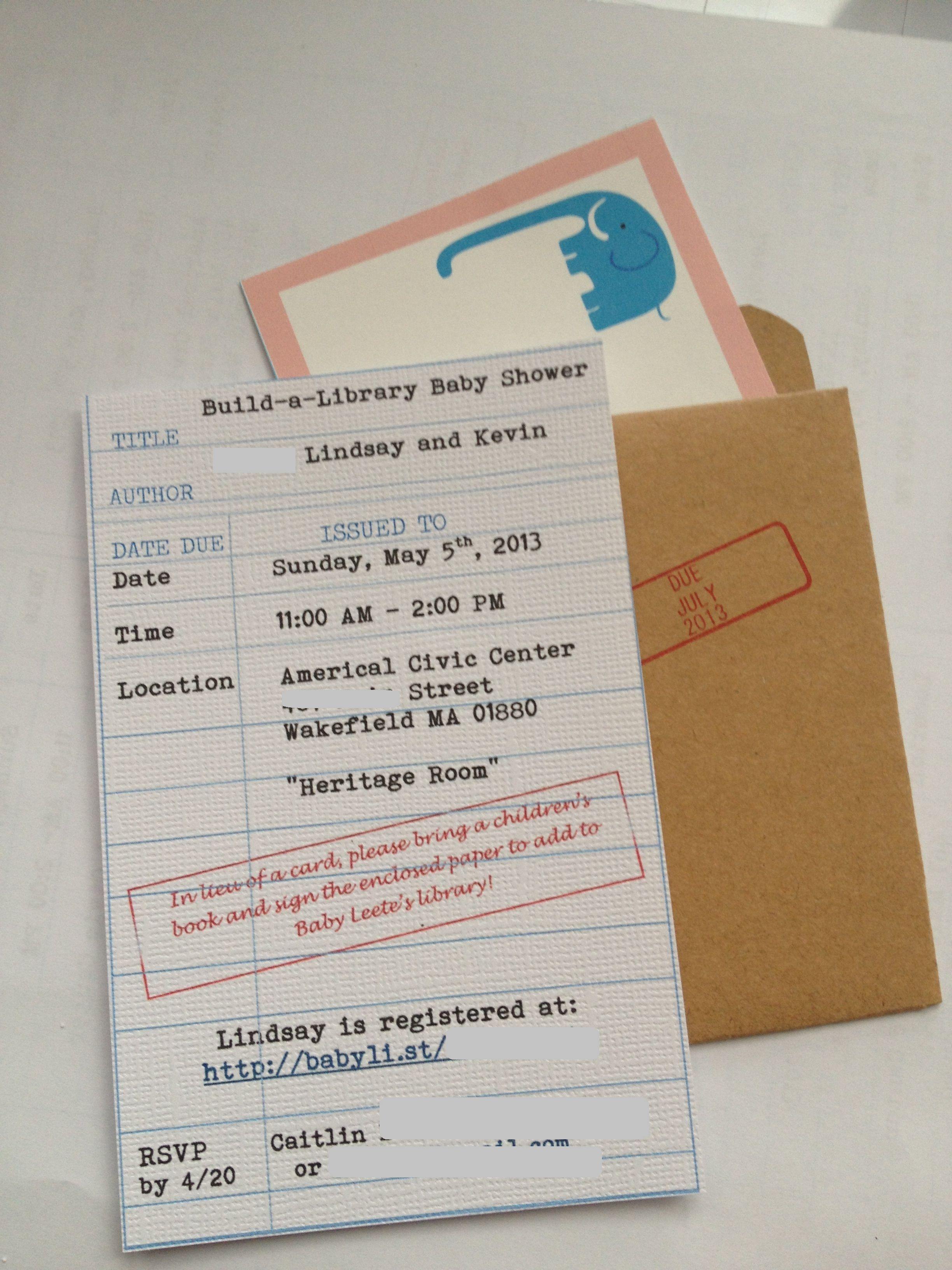 Baby shower library card invite baby shower pinterest library card baby shower library card invite filmwisefo