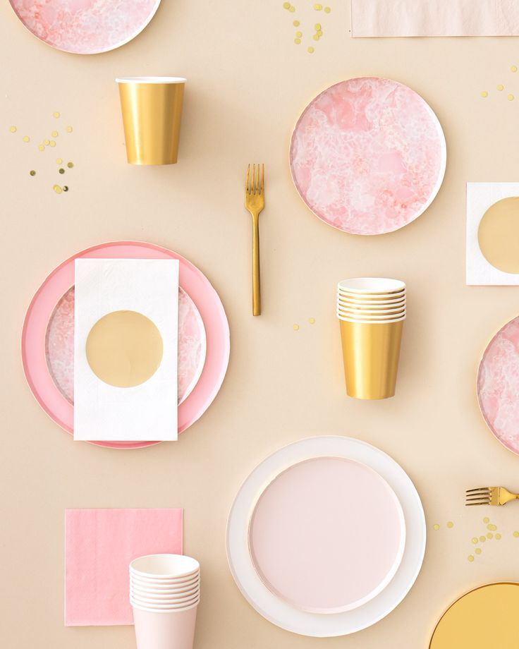 Oh Happy Day Rose Quartz Plates (Large) Plates, Party