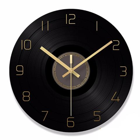 Elegant Retro Style Glass Record Modern Artistic Wall Clock Retro Wall Clock Wall Clock Clock
