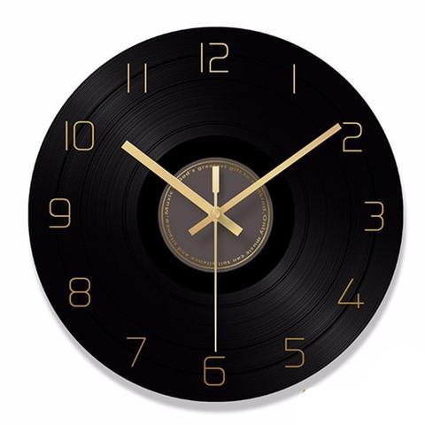 Elegant Retro Style Glass Record Modern Artistic Wall Clock Retro Wall Clock Wall Clock Clock
