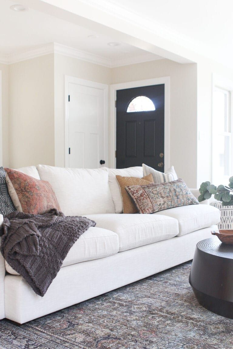 Neutral Couch From Crate And Barrel The Diy Playbook Neutral Couch Family Room Sofa Living Room Design Decor