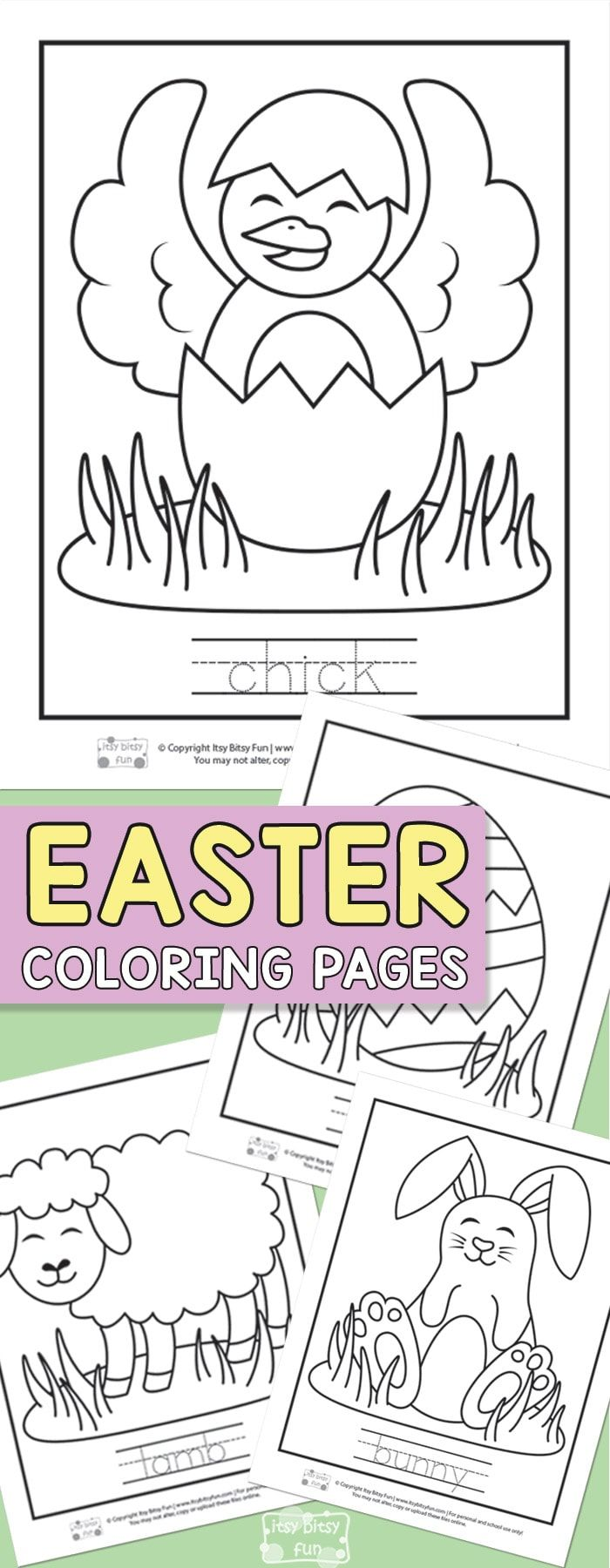 Easter coloring pages for kids kidus art and activity spring