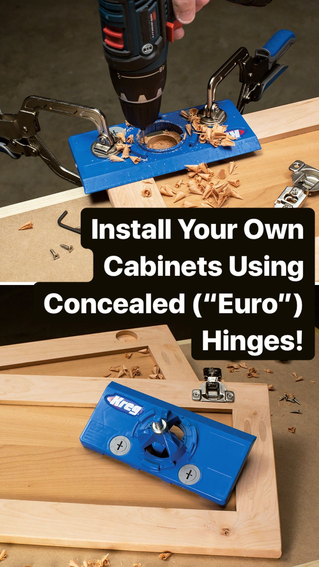Install Your Own Diy Cabinets Using Concealed Euro Hinges Kid Bathroom Decor Concealed Hinges Installing Cabinets