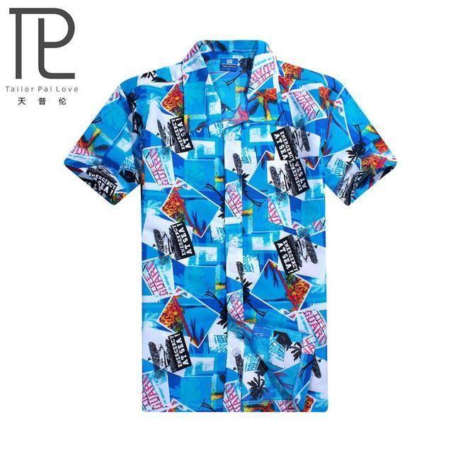 Men s Shirts Mens Hawaiian Shirt Male Casual camisa masculina Printed Beach  Shirts Short Sleeve brand clothing Free Shipping Asian Size 4XL 501936cf9db6