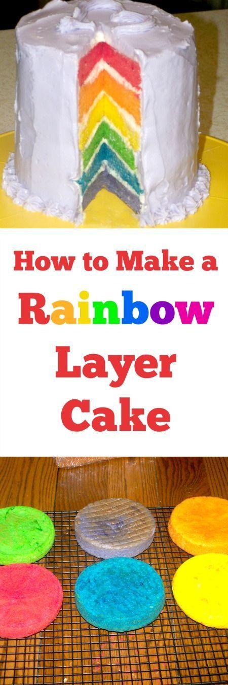 How to make a rainbow cake on the inside!
