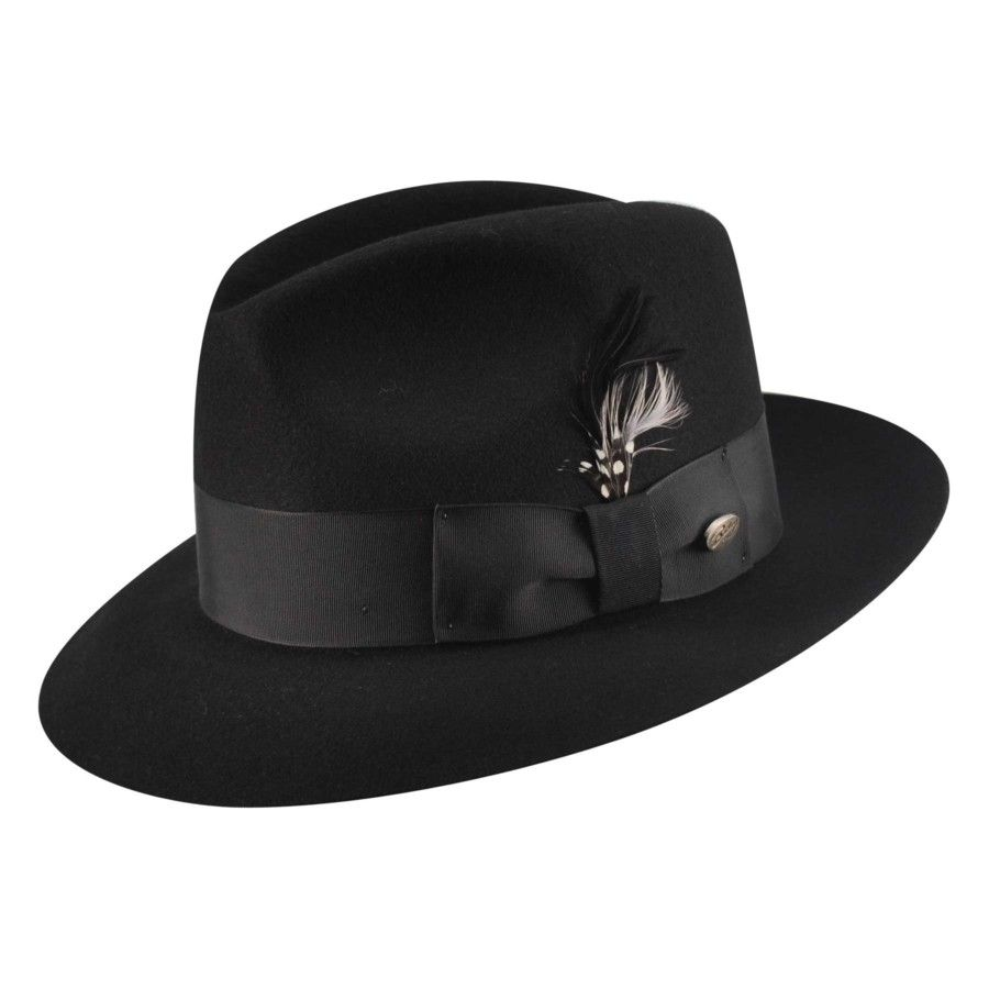 Bailey of Hollywood Gangster Wool Felt Capone Style  c7259caf1de0