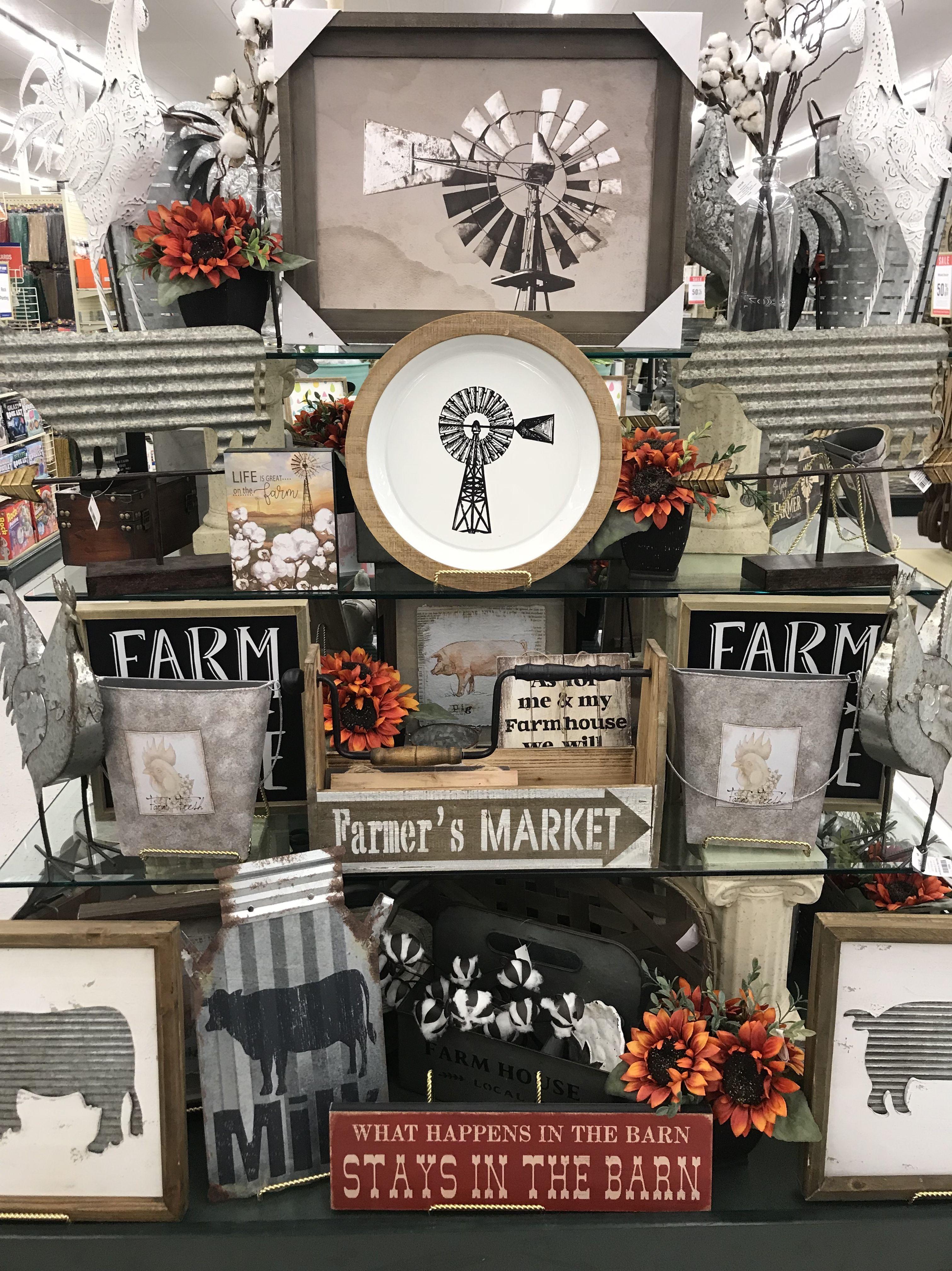 Hobby Lobby Merchandising Table Displays Work Farmhouse Bathroom Decor Country Farmhouse Decor Decor