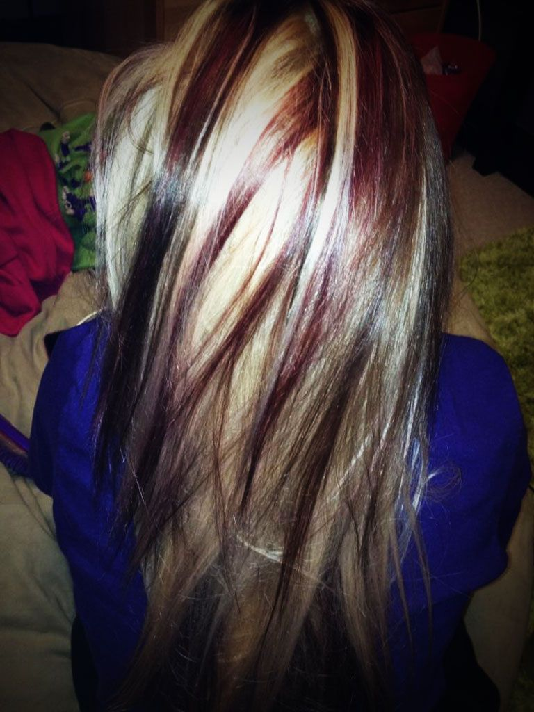 Blonde Highlights And Red Lowlights For Brown Hair Bbrown Hairb With