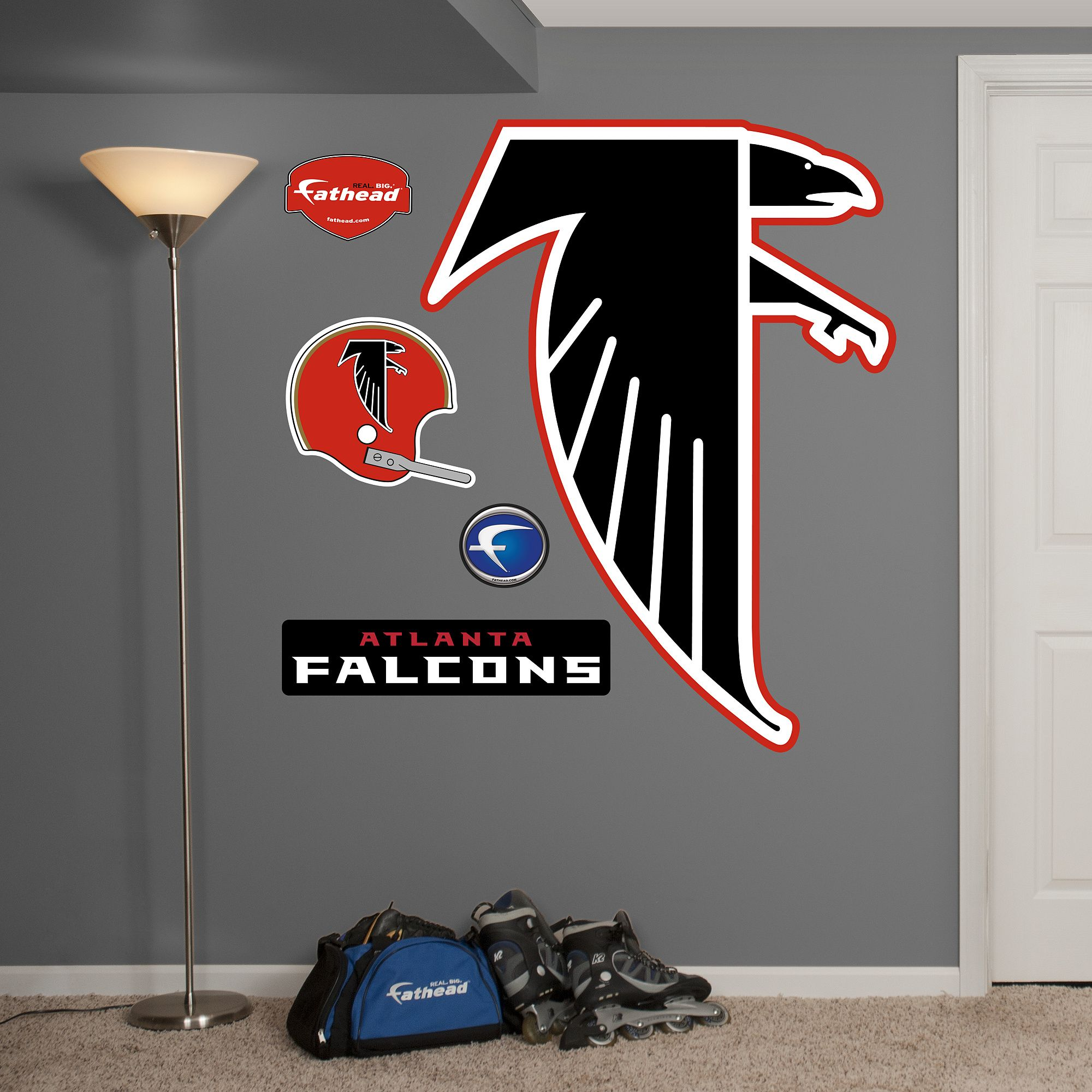 Atlanta Falcons Classic Logo Giant Officially Licensed Nfl Removable Wall Decal Classic Logo Atlanta Falcons Logo Wall