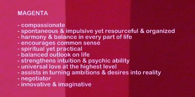 Symbolic Meaning And Description Of Diffe Shades The Color Magenta