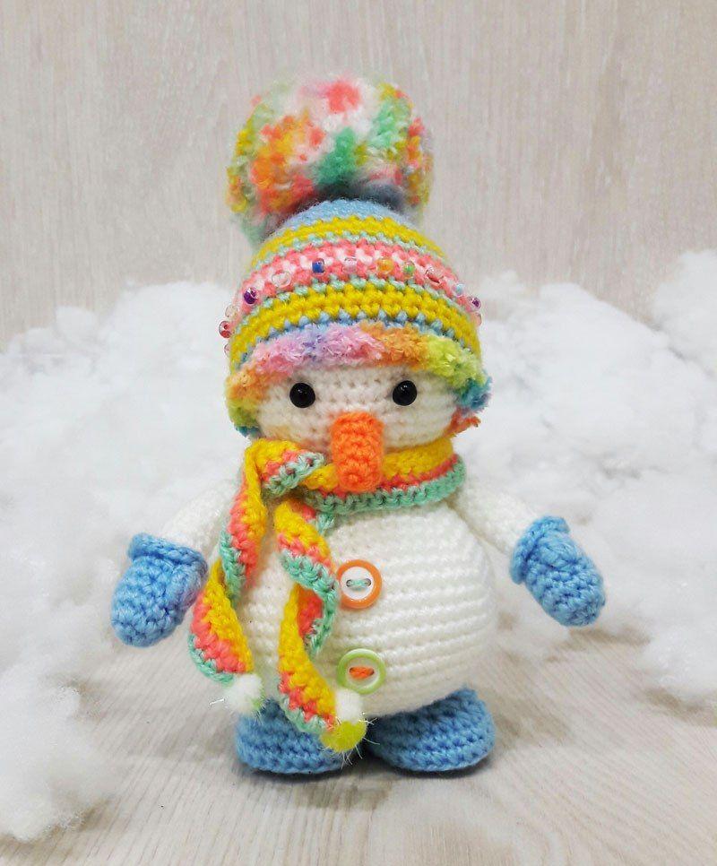 Knitted amigurumi crochet snowman scheme | christmas | Pinterest ...