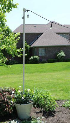 Enbrighten Caf Lights & DIY Light Pole Planter ...