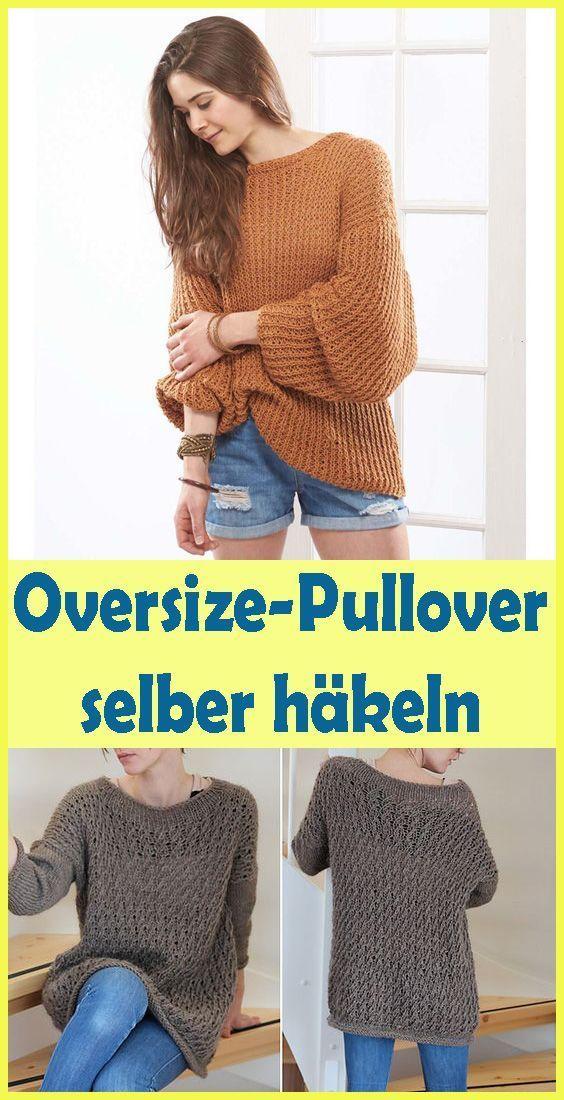 Photo of Gehäkelter Oversize-Pullover – einfache Anleitung für Oversize-Pullover – …