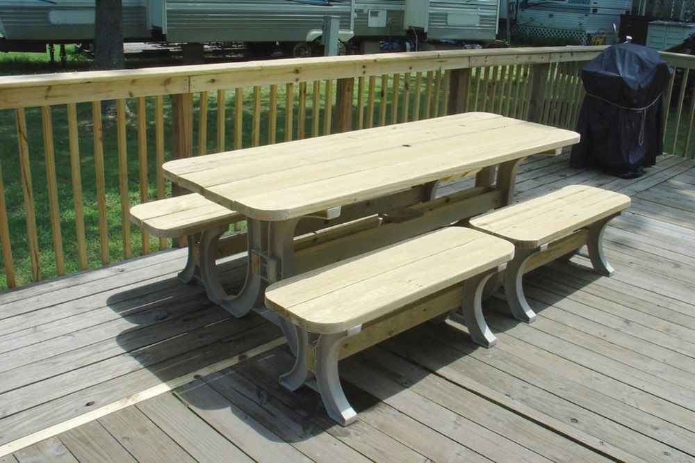 Picnic Table Kit Outdoor Garden Furniture Bench Nature Food Sit ...