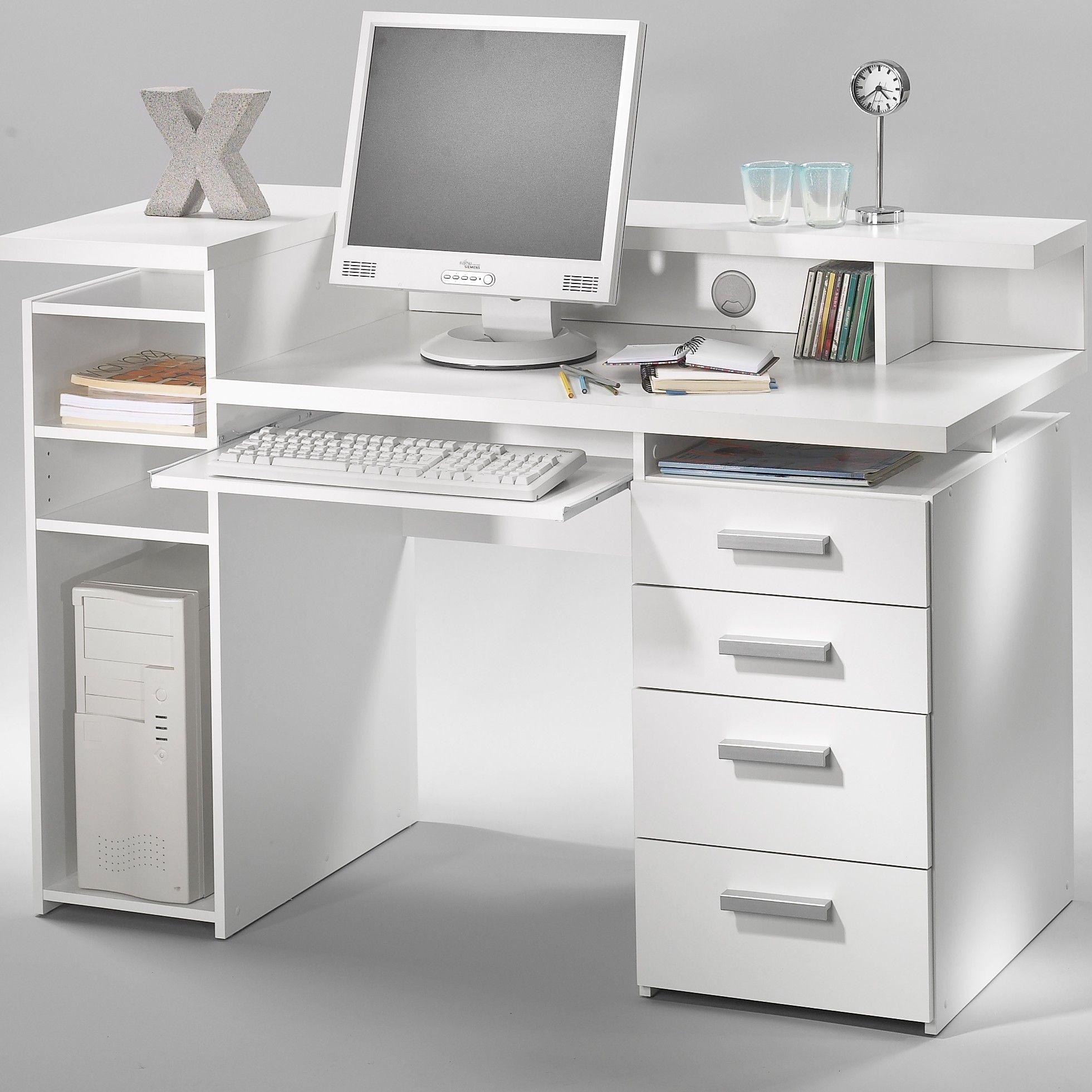 Tvilum Whitman Plus Office Computer Desk Wayfair White Computer Desk Modern Computer Desk Office Computer Desk
