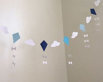 Letu0027s Go Fly A Kite Party Paper Garland Kite Baby Shower Decor Kite  Birthday Party Decoration Kites Nursery Kite Room Decor Custom Colors |  Pinterest | Kite ...