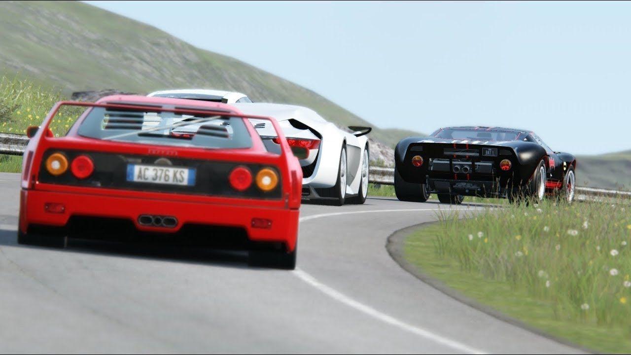 Onboard Ford Gt40 Vs Nissan Gt R Vs Ferrari F40 Vs Citroen Gt Vs