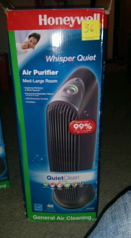 Honeywell Tower Quiet Air Purifier Hd123ghd Whisper Quite Black Honeywell Ebaydeals Quiet Air Purifier Air Purifier Purifier