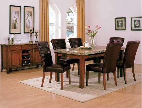 Todayu0027s Feature Furniture  7pc Marble Dinette Set   On Sale $659.99 Puritan  Furniture  CT