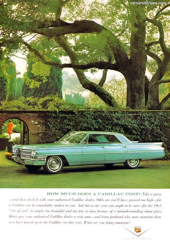 1963 Cadillac How Much Does A Cost Original Ad