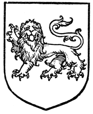 Fig. 297.—Lion passant guardant. Date 	1909 Source 	A Complete Guide to Heraldry. Author Arthur Charles Fox-Davies oktouse