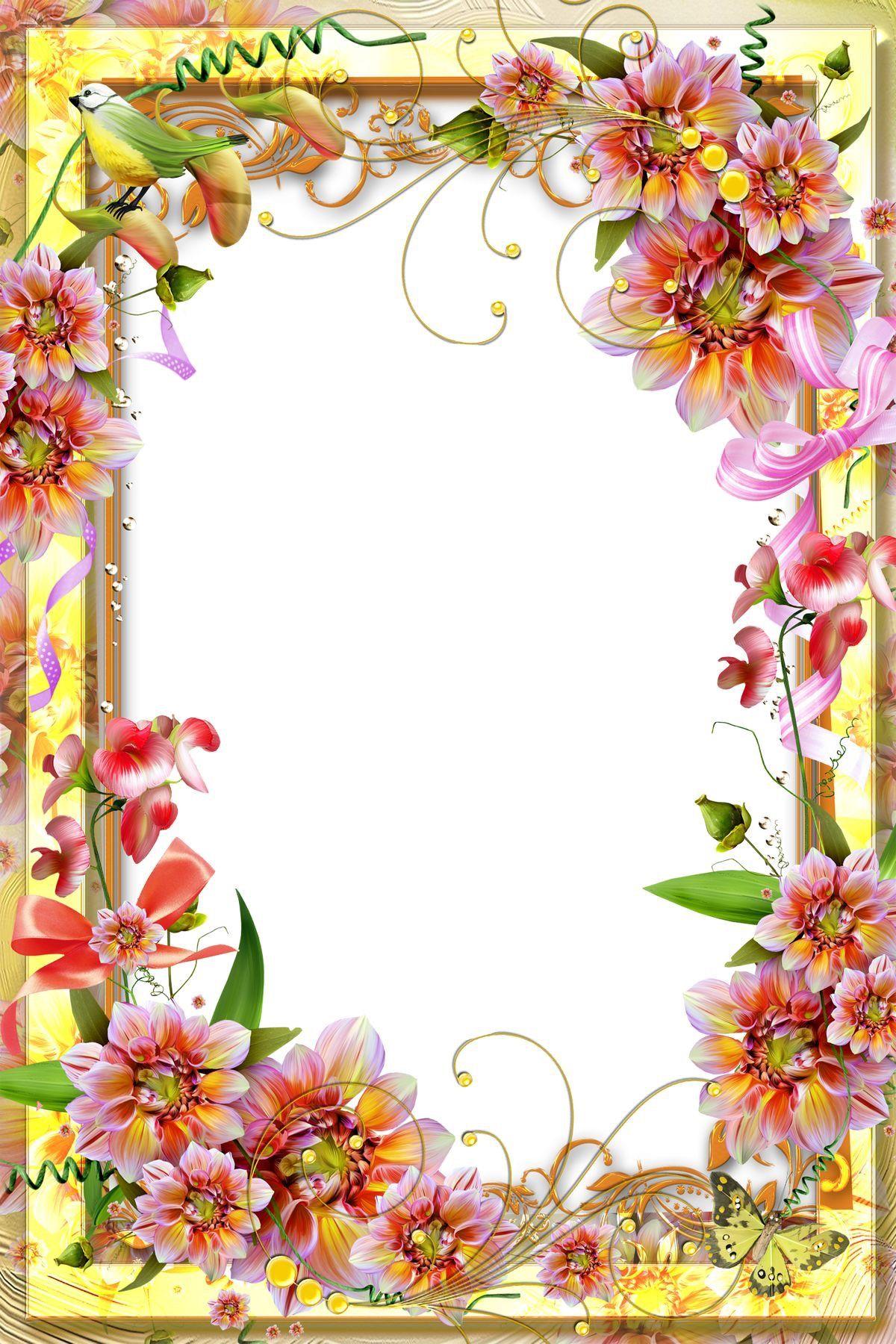 Рамка с цветами открытки