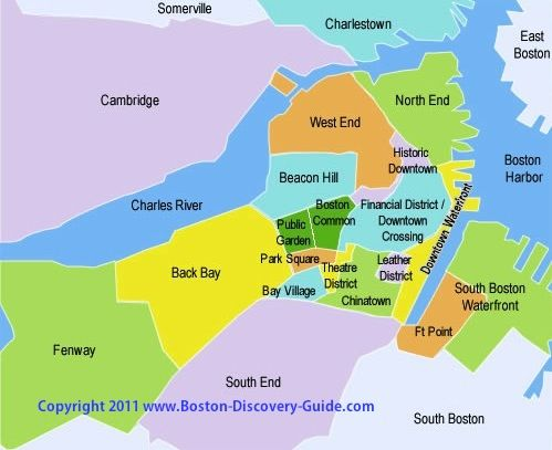 Boston Sightseeing Map And Attractions Guide With Images