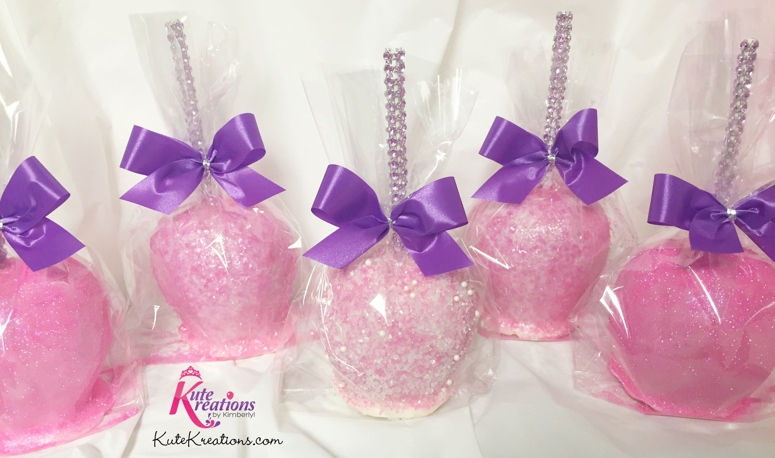 Princess Candy Apples by KuteKreations.com | Glam Candy Apples ...
