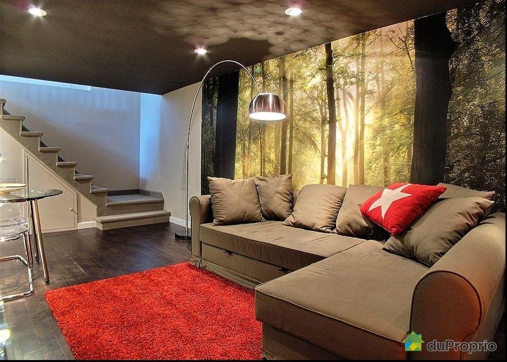 le plafond peint fonc u00e9  la mural d u00e9coration interne For Basement Family Room Furniture Walkout Basement Family Room Decorating