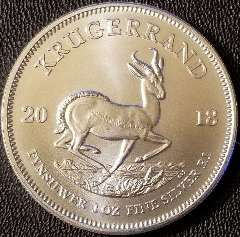 2018 South Africa Krugerrand 1 Oz 999 Fine Silver Bullion Silver Krugerrand Fine Silver Gold Krugerrand