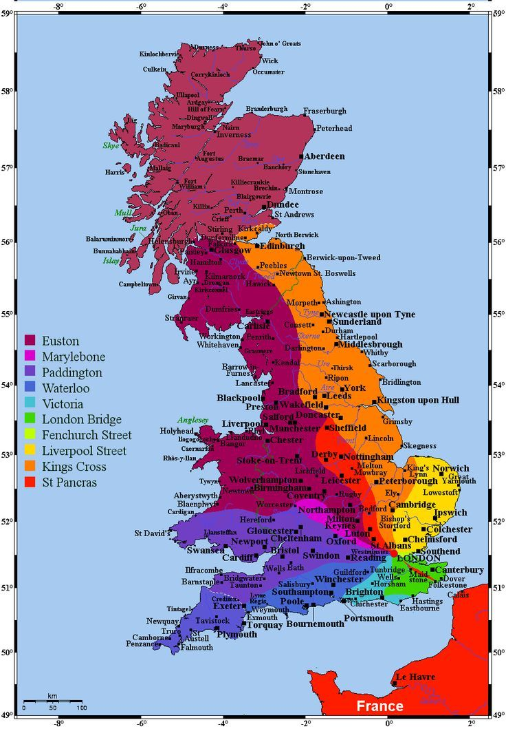 London On The Map Of England.Map England Area Serviced By London Train Stations Google Search