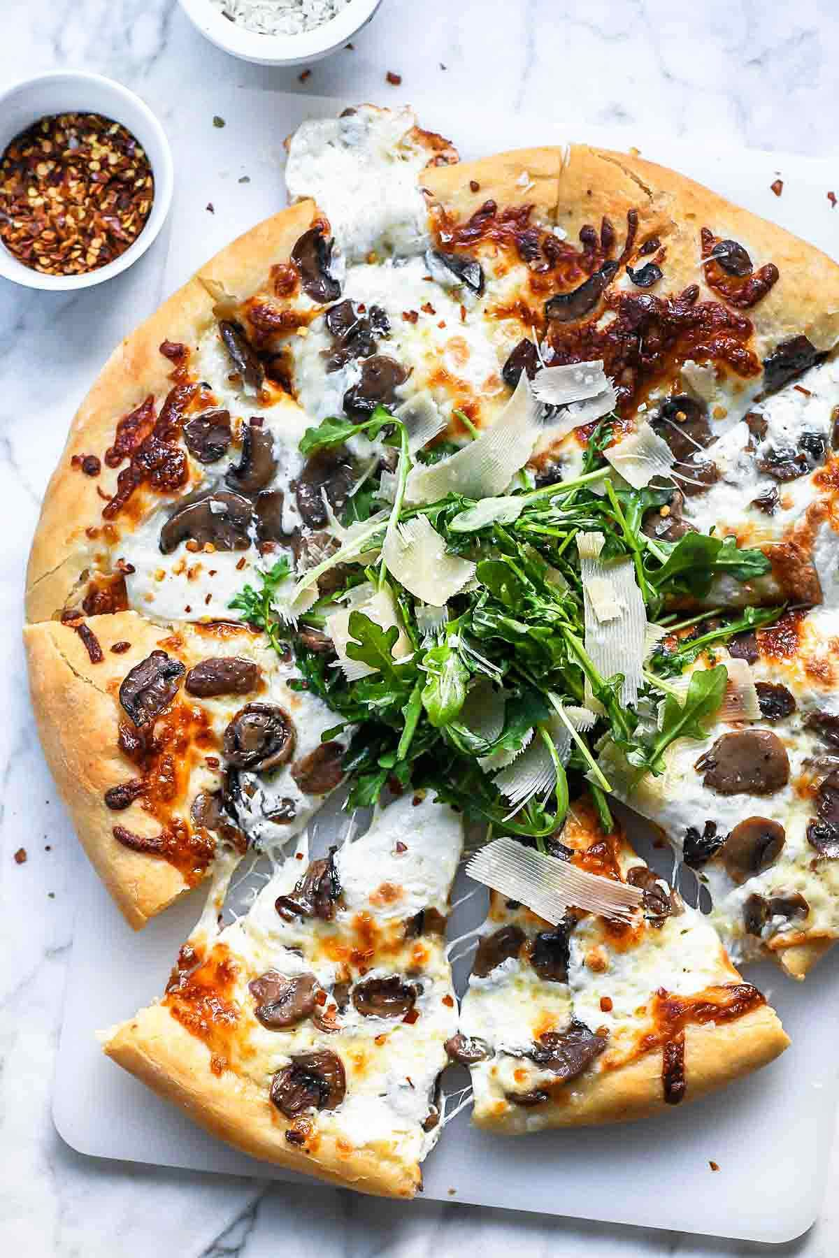 Truffled Mushroom Pizza Foodiecrush Com Pizza Truffles Mushrooms Recipes Pizza Recipes Homemade Mushroom Pizza Recipes Mushroom Pizza