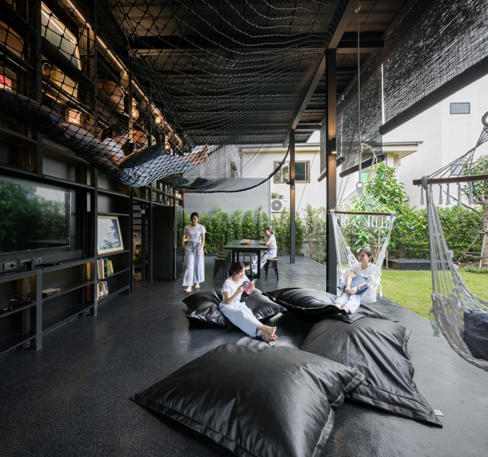 Gallery Of Kloem Hostel If Integrated Field 32 In 2020 Hostels Design Hostel Dark Interiors