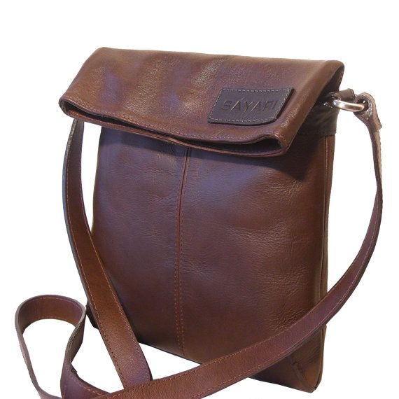 Toast Leather Crossbody Bag - Genuine Lama Leather - Handmade by SAYARI in Bolivia - Messenger $90