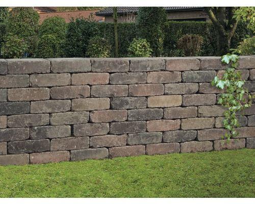 Mauerstein iBrixx Antik braun-bunt 28x21x8,5cm | Garten ...