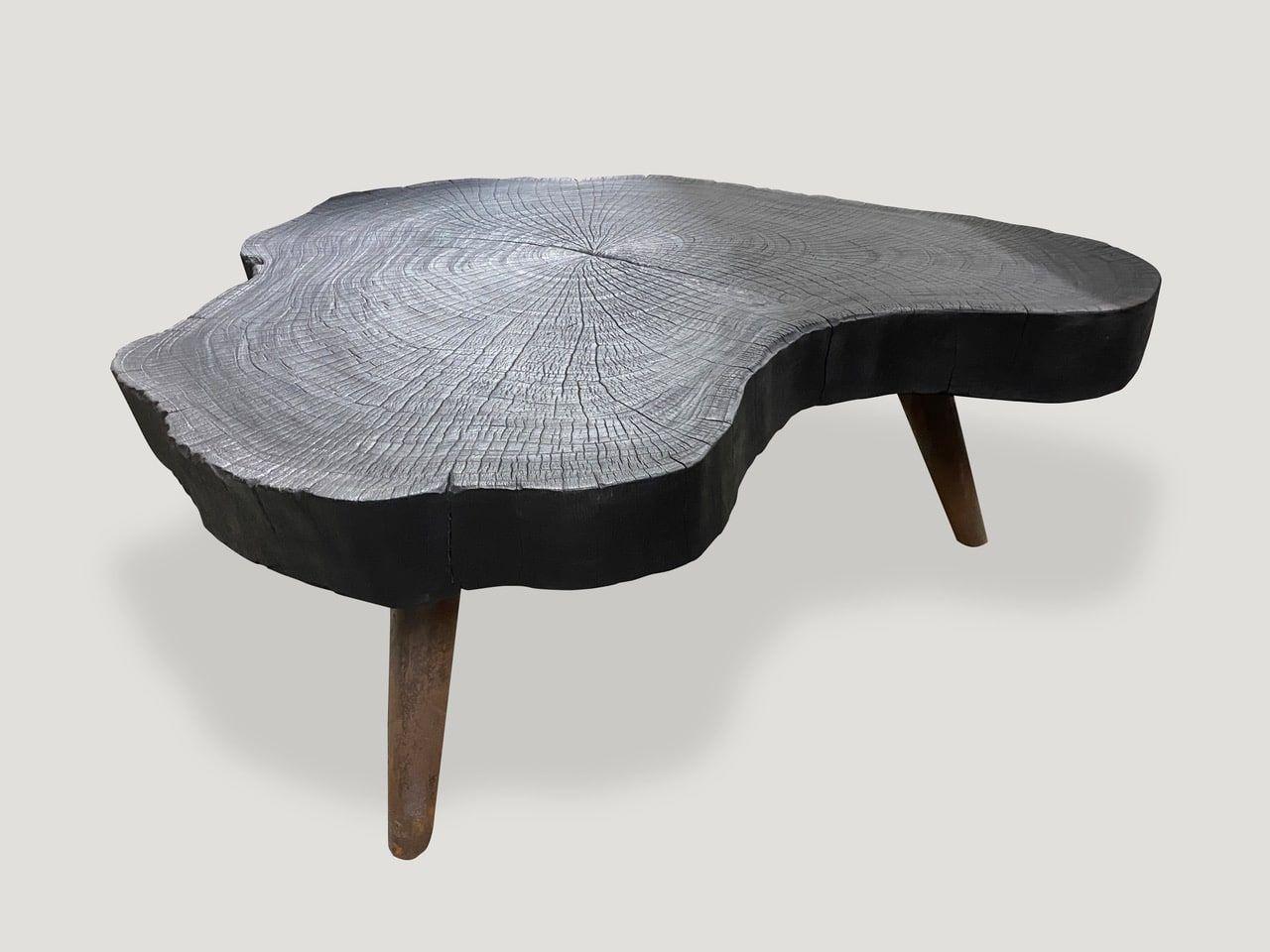 Charred Furniture Triple Burnt Collection Andrianna Shamaris Coffee Table Organic Wood Century Modern Furniture [ 960 x 1280 Pixel ]