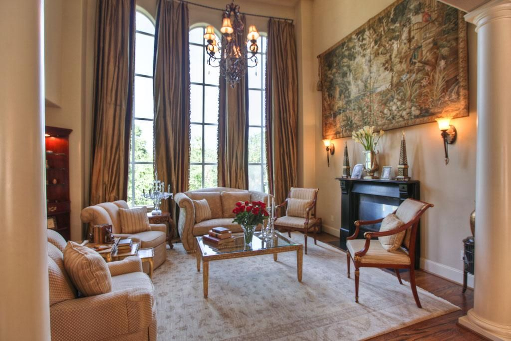 Two Story Curtains Living Room Ideas Pinterest Houston Tx Full Bath And Sitting Rooms