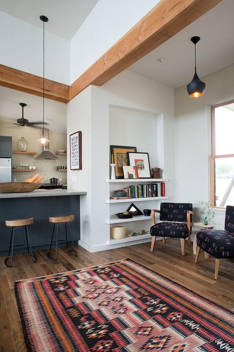 Viga de madera | Decoración | Pinterest | Offene küche, Teppiche und ...
