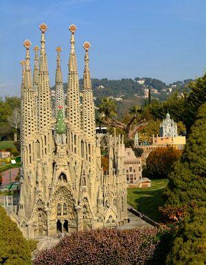 Sagrada Familia, Spain.  Architect Antoni Gaudi