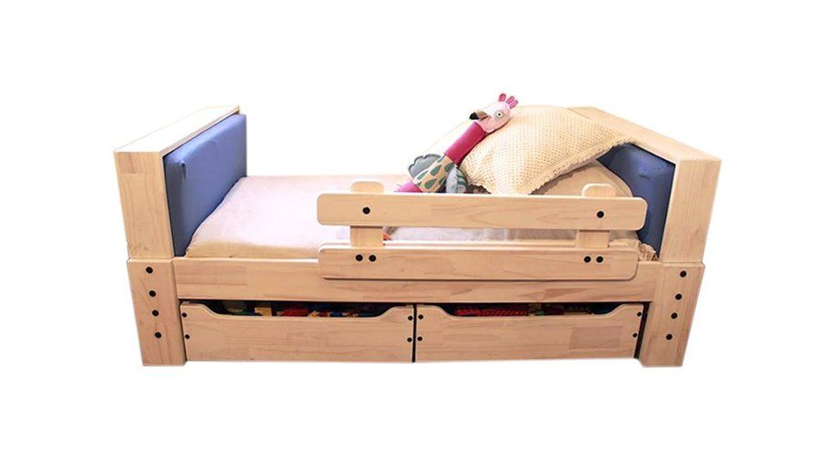 Hacer una cama de madera de 95 x 1 40 para ni os - Hacer una cama de madera ...
