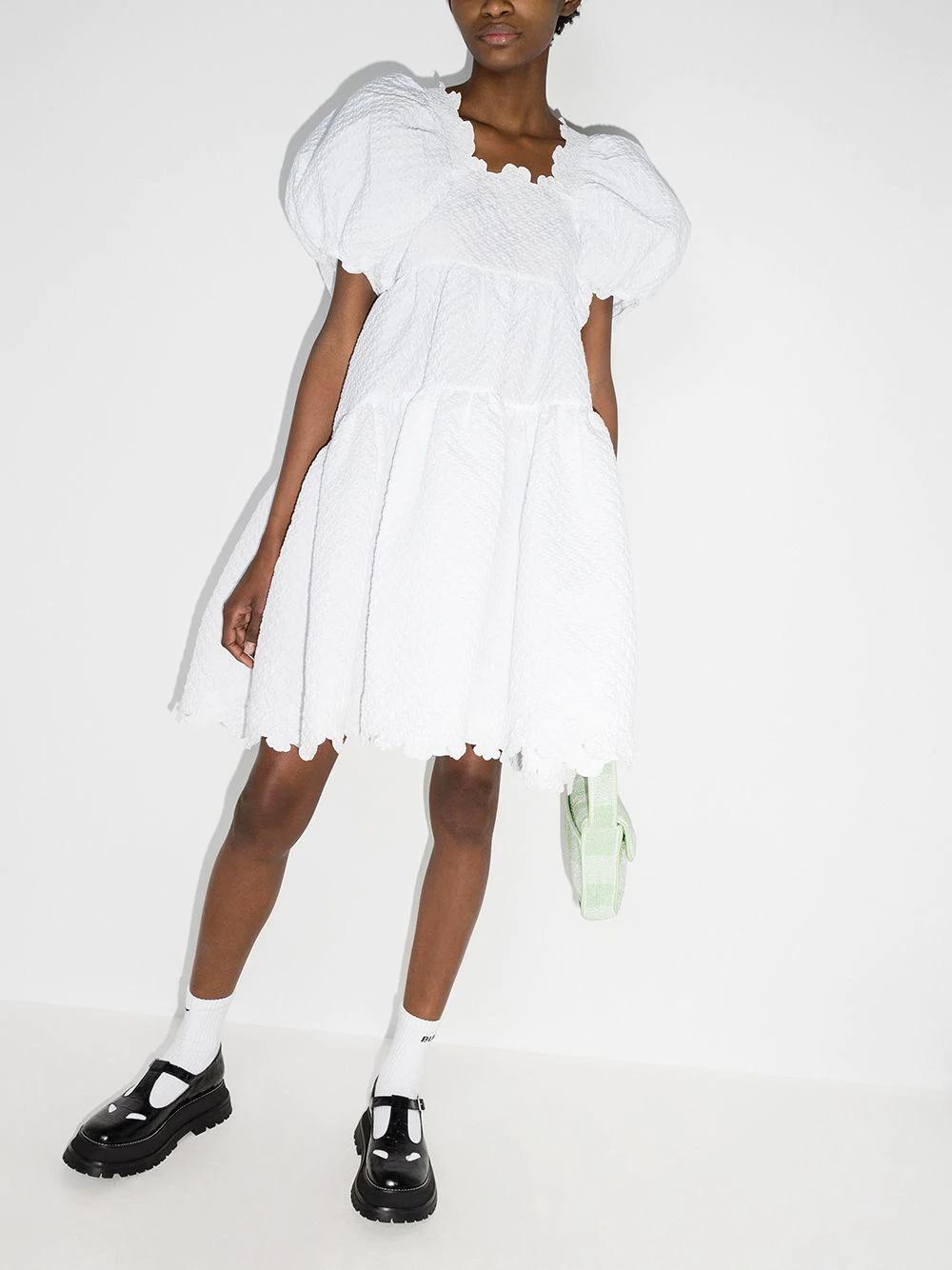 Cecilie Bahnsen Karen Tiered Mini Dress Farfetch In 2021 White Mini Dress Dresses Mini Dress [ 1334 x 1000 Pixel ]
