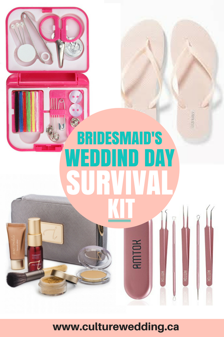 41409e5bf96d BRIDESMAIDS wedding day survival Kit. DIY Wedding emergency kit. What to  pack in an emergency wedding kit for your wedding. Be prepared for any wedding  day ...