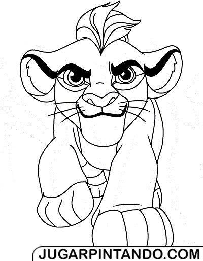 La Guardia del Len para imprimir y colorear  laguardia del leon