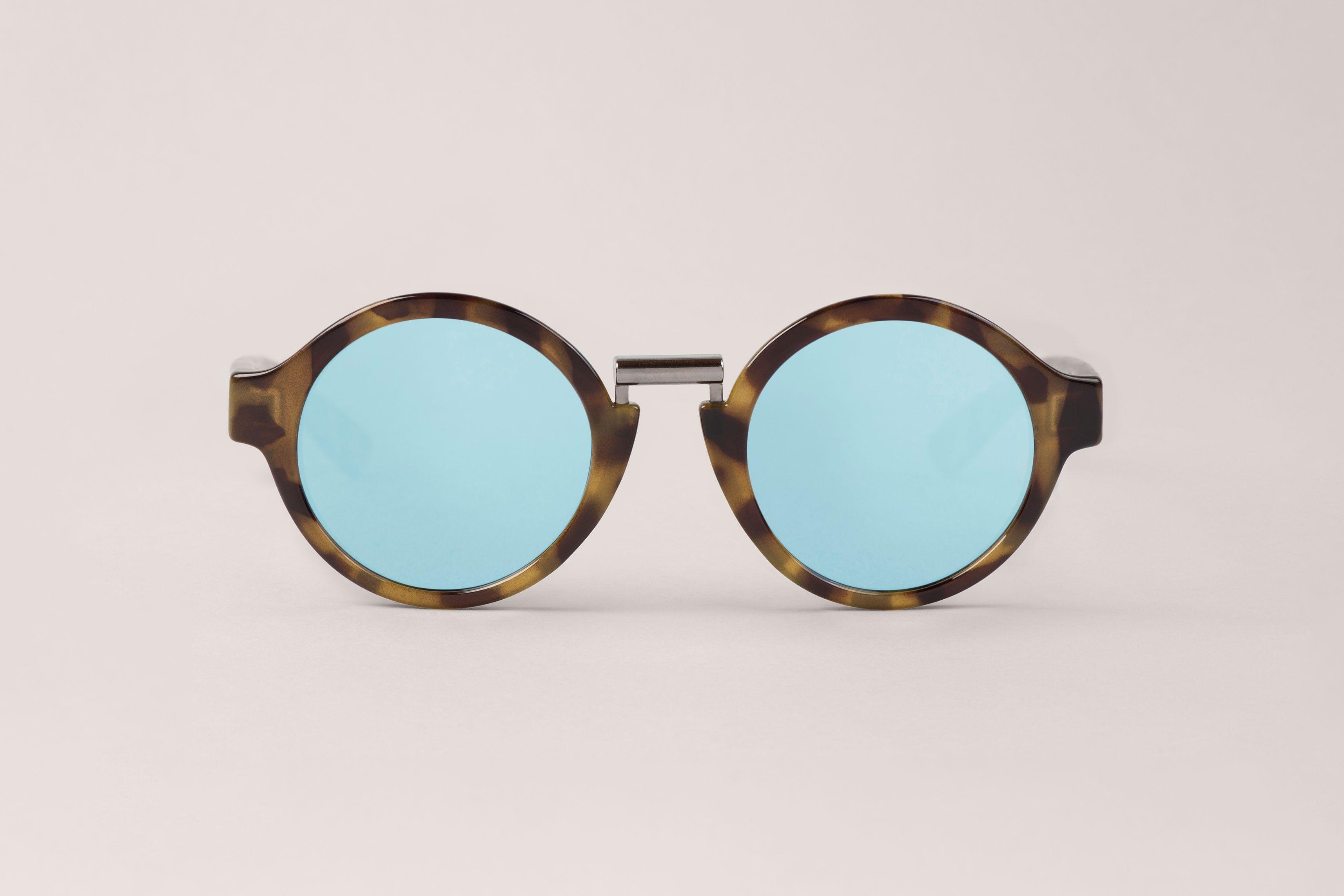 High Contrast Hackney with sky blue lenses - Hackney - Sunglasses | Mr. Boho