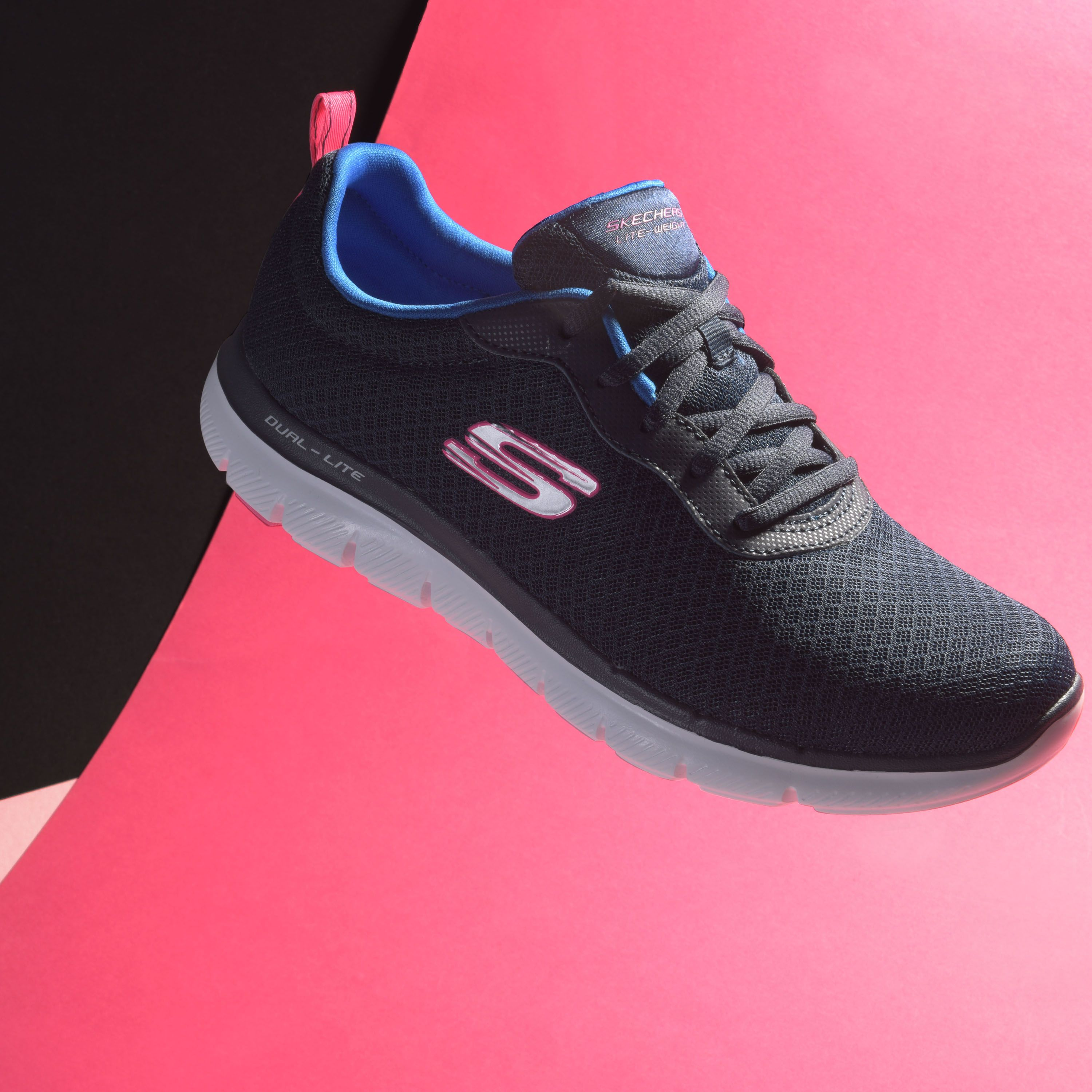 skechers memory foam ladies trainers