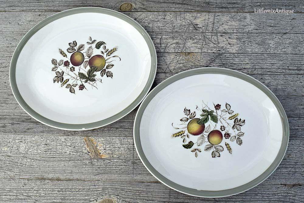 Vintage Alfred Meakin Staffordshire England Hereford Etsy Dinner Plates Tableware Serving Platters