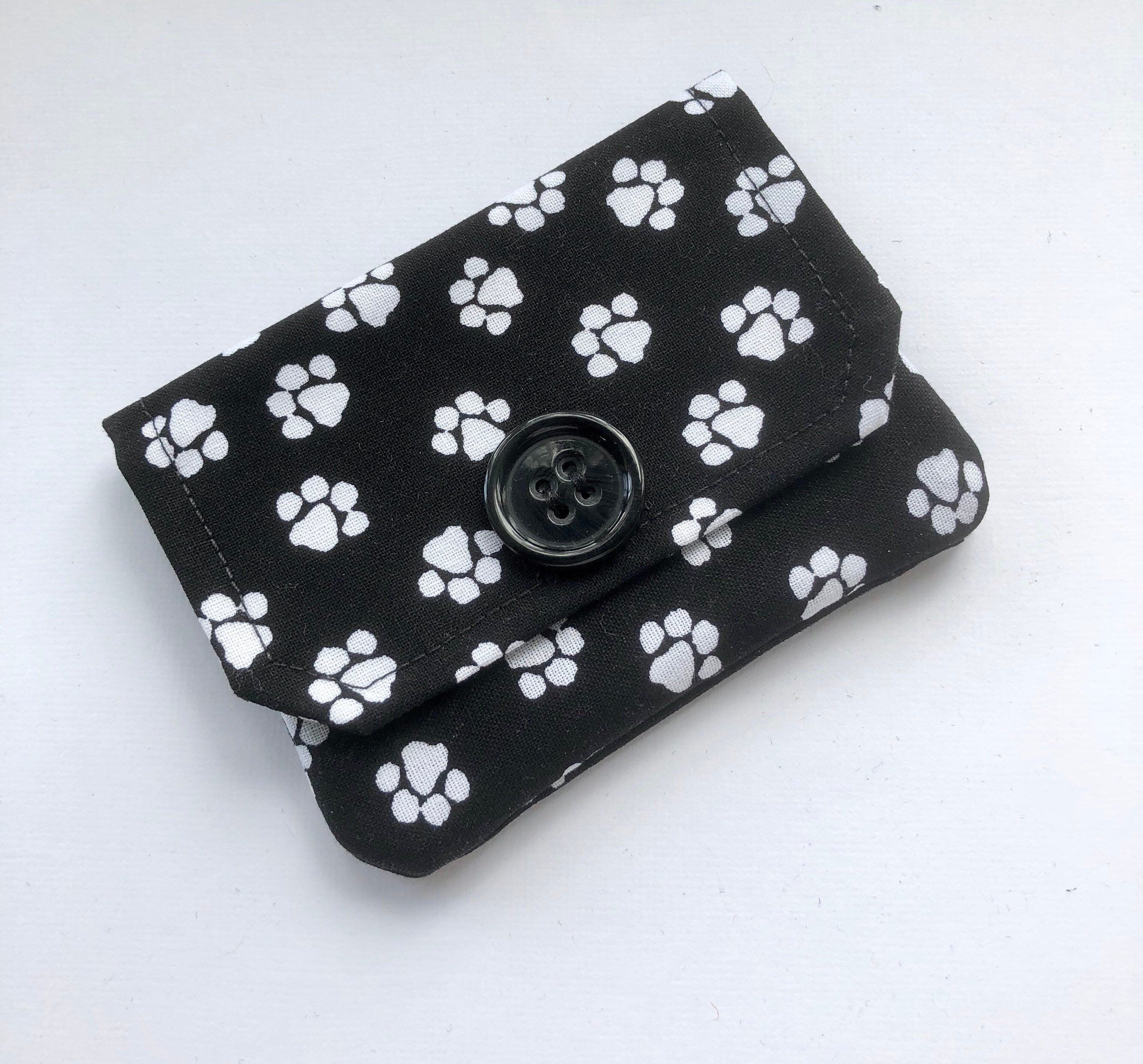 Excited To Share This Item From My Etsy Paw Print Fabric Credit Card Wallet Purse Organizer Accessory Gift Holder Business