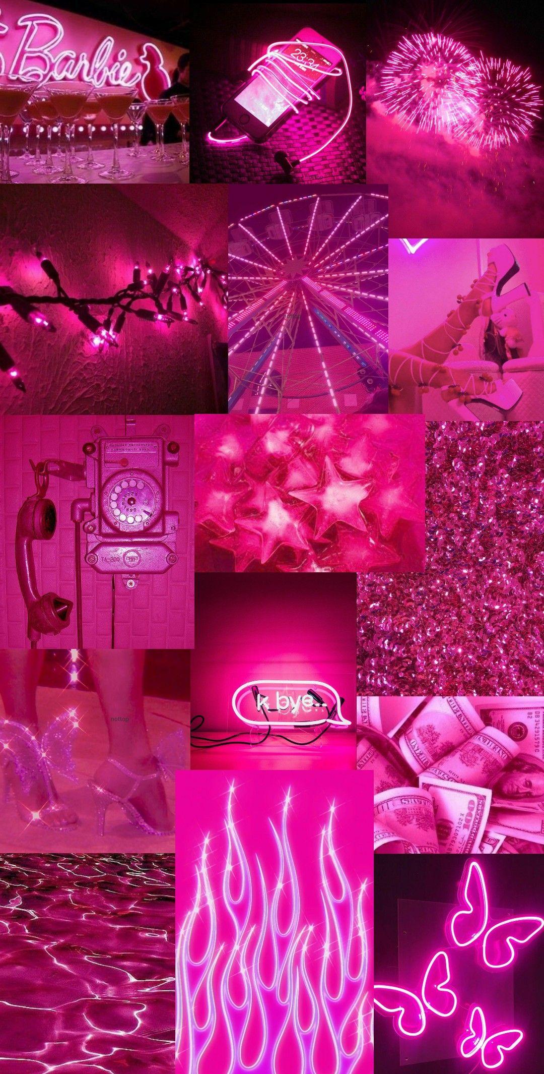 Hot pink wallpaper