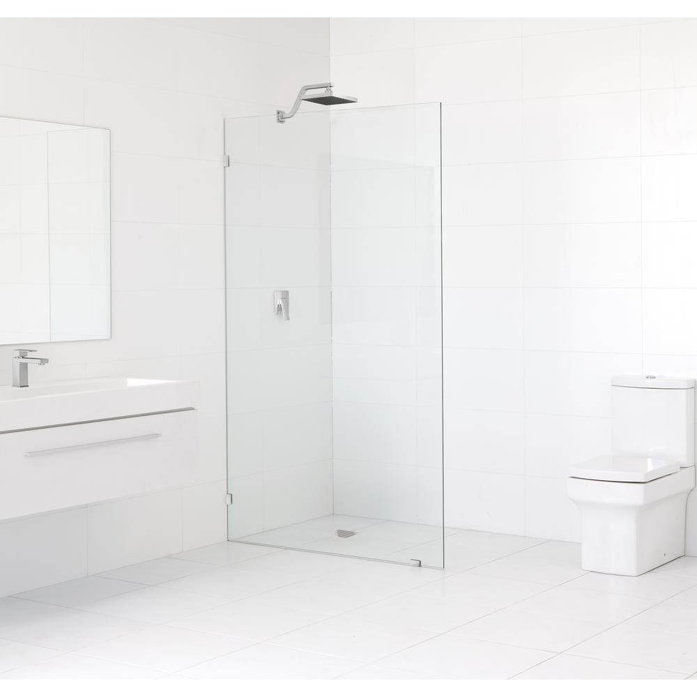 Glass Warehouse 31 5 In X 78 In Frameless Fixed Panel Shower